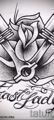 Фото пример татуировки байкеров для статьи про значение – tatufoto.ru – 109