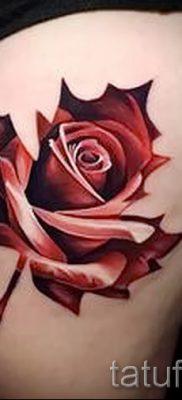 Вариант классного рисунка в готовой татуировке клен для материала про смысл клена в татуировке