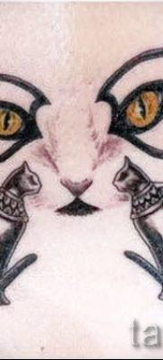 Стильный вариант татуировки сфинкс – можно использовать для тату сфинкс значение для девушек