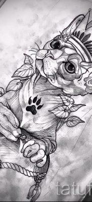 Оригинальный вариант тату сфинкс – можно использовать для тату сфинкс значение для девушек