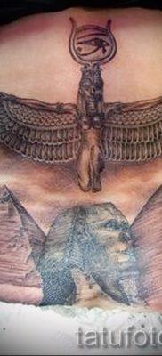 Оригинальный вариант тату сфинкс – можно использовать для тату на плече цветная кошки сфинксы