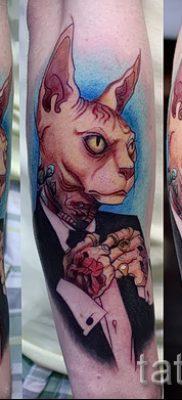 Прикольный вариант татуировки сфинкс – можно использовать для тату сфинкс значение для девушек