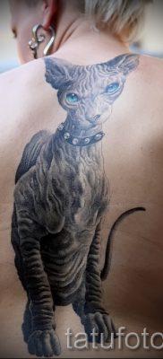 Достойный вариант тату сфинкс – можно использовать для тату сфинкса на ноге