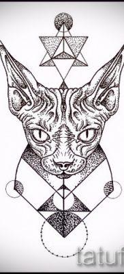 Интересный вариант тату сфинкс – можно использовать для тату египетский сфинкс
