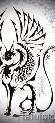 Уникальный вариант татуировки сфинкс – можно использовать для кот сфинкс тату