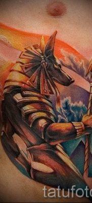 Стильный вариант тату сфинкс – можно использовать для тату сфинкса на ноге