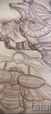 Оригинальный вариант татуировки сфинкс – можно использовать для тату египетский сфинкс