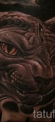 Классный вариант татуировки сфинкс – можно использовать для сфинкс с крыльями тату