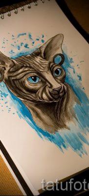 Уникальный вариант тату сфинкс – можно использовать для тату сфинкс кошка
