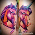 Уникальный пример готовой татуировки единорог – рисунок подойдет для тату единорог космос