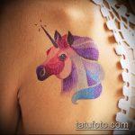 Прикольный вариант существующей тату единорог – рисунок подойдет для тату единорог на запястье