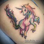 Крутой вариант существующей наколки единорог – рисунок подойдет для тату единорог лошадь