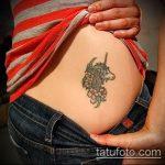 Зачетный пример готовой тату единорог – рисунок подойдет для тату единорог на ноге