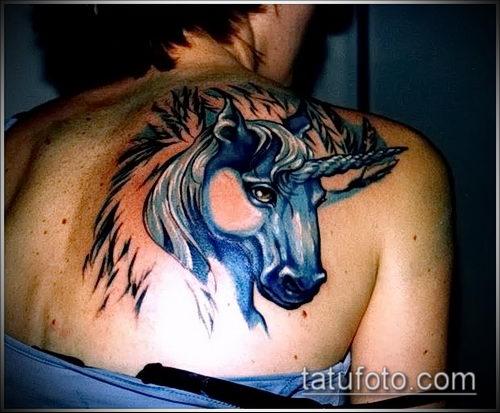 Фото тату единорог - интересные варианты нанесенных тату для подбора рисунка