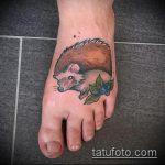 Оригинальный вариант готовой татуировки ежик – рисунок подойдет для тату ежик в очках