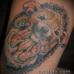 Зачетный пример выполненной наколки ежик – рисунок подойдет для тату ежика в тумане