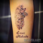 Крутой вариант выполненной тату ежик – рисунок подойдет для тату ежик резиновый