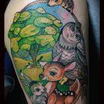 Оригинальный пример готовой татуировки ежик – рисунок подойдет для тату ежик на запястье