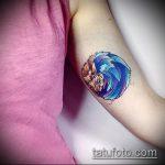 Прикольный пример готовой тату ежик – рисунок подойдет для тату ежик и цветы
