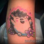 Крутой пример готовой тату ежик – рисунок подойдет для тату ежик в тумане на руке