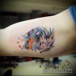 Зачетный пример нанесенной татуировки ежик – рисунок подойдет для тату ежик на животе