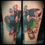 Оригинальный вариант готовой татуировки ежик – рисунок подойдет для тату ежика соника