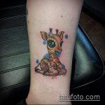 Оригинальный пример готовой тату жираф – рисунок подойдет для тату жираф на предплечье