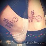 Интересный вариант готовой тату жираф – рисунок подойдет для тату жираф на предплечье