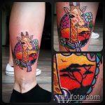 Крутой вариант нанесенной тату жираф – рисунок подойдет для тату жираф на рукетату жираф на пальце