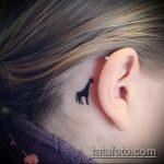 Уникальный пример нанесенной татуировки жираф – рисунок подойдет для тату жирафа на спине