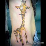Крутой вариант нанесенной наколки жираф – рисунок подойдет для тату жираф ёжик жираф