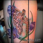 Зачетный вариант существующей татуировки жираф – рисунок подойдет для тату жираф маленькийтату жираф моноцвет