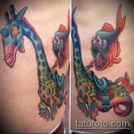 Оригинальный вариант выполненной наколки жираф – рисунок подойдет для тату жираф на рукетату жираф на пальце