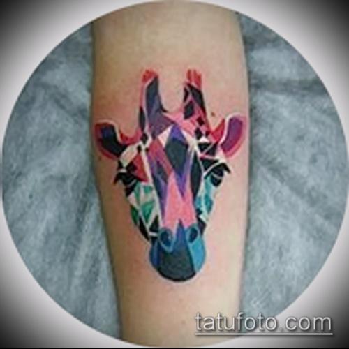 Фото тату жираф - прикольные готовые татуировки для выбора рисунка