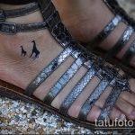 Крутой вариант готовой тату жираф – рисунок подойдет для тату жираф геометрия