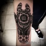 Уникальный вариант существующей татуировки жираф – рисунок подойдет для тату жираф на спине