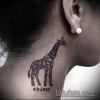 Фото тату жираф