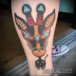 Зачетный вариант нанесенной наколки жираф – рисунок подойдет для тату жираф в очках