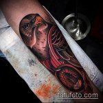 Оригинальный вариант нанесенной татуировки жук – рисунок подойдет для тату жуки