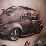 Интересный вариант существующей татуировки жук – рисунок подойдет для тату жука на ноге