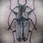 Крутой вариант готовой наколки жук – рисунок подойдет для тату жук скарабей