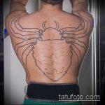 Зачетный вариант выполненной тату жук – рисунок подойдет для тату жук на руке
