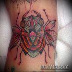 Крутой вариант готовой тату жук – рисунок подойдет для тату жука скарабей