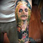 Классный вариант выполненной татуировки жук – рисунок подойдет для тату жук скарабей