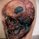Уникальный вариант существующей татуировки жук – рисунок подойдет для тату жук на ноге