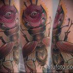 Крутой вариант выполненной наколки жук – рисунок подойдет для тату жука на руке
