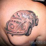 Уникальный вариант выполненной татуировки жук – рисунок подойдет для татуировка жук с крестом