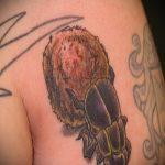 Уникальный пример готовой наколки жук – рисунок подойдет для татуировка жук на пальце