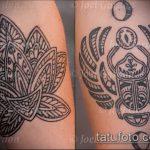 Крутой вариант выполненной татуировки жук – рисунок подойдет для тату жук на руке