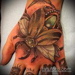Зачетный вариант готовой тату жук – рисунок подойдет для тату жука на запястье